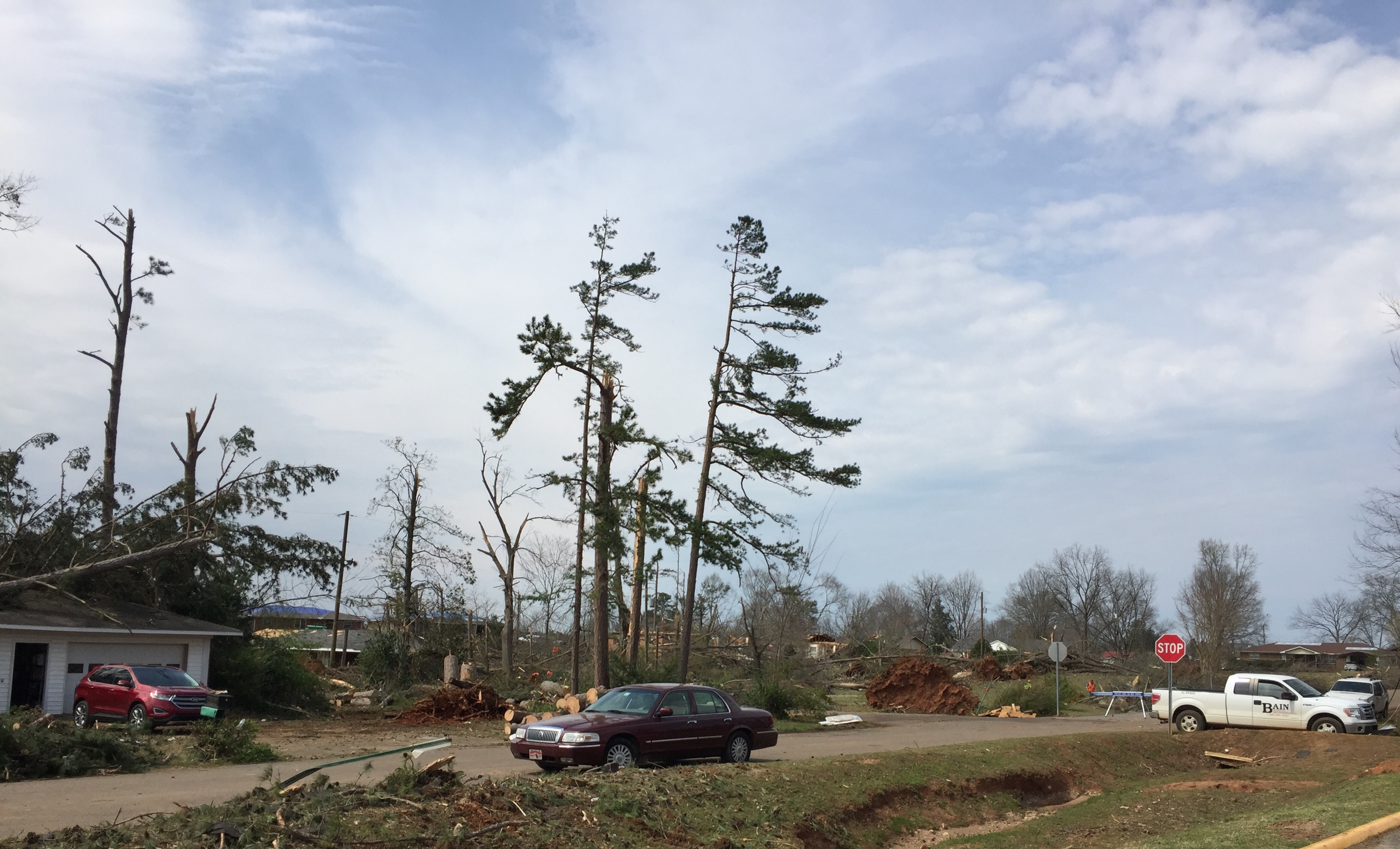 Homes damaged by storms in North Alabama